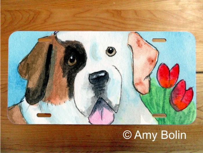 LICENSE PLATE · EASTER SAINT · HALF MASK SAINT BERNARD · AMY BOLIN