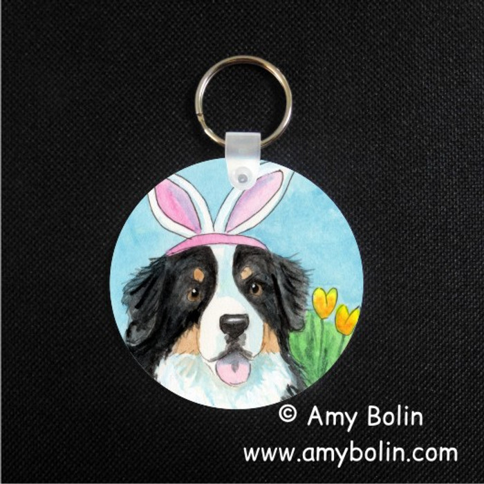 KEY CHAIN · EASTER BERNIE · BERNESE MOUNTAIN DOG · AMY BOLIN