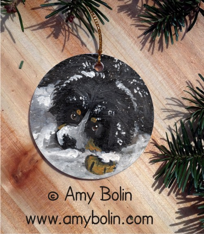 CERAMIC ORNAMENT · MY FIRST WINTER · BERNESE MOUNTAIN DOG · AMY BOLIN