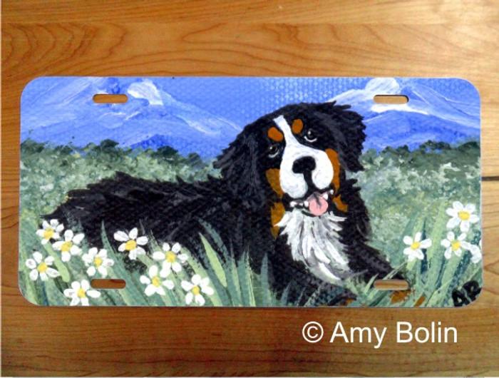 LICENSE PLATE · MOUNTAIN HOME · BERNESE MOUNTAIN DOG · AMY BOLIN