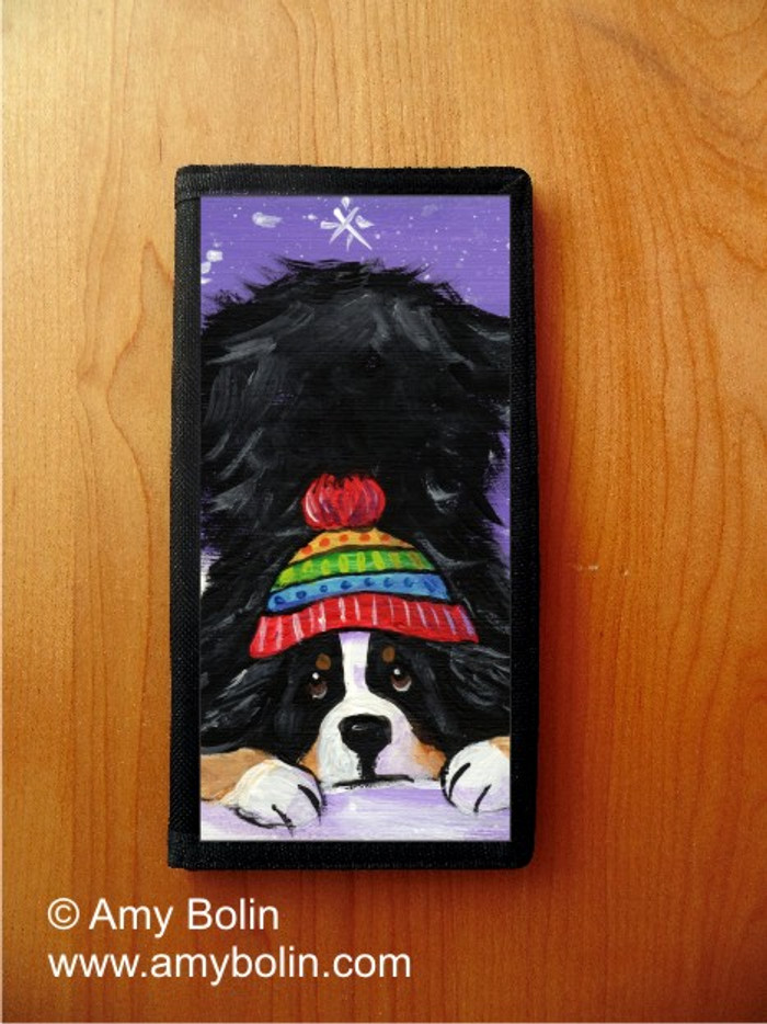 CHECKBOOK COVER · PLAYFUL PUP · BERNESE MOUNTAIN DOG · AMY BOLIN