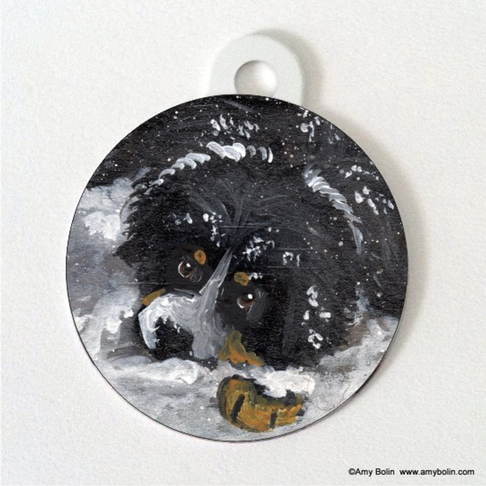 DOUBLE SIDED PET ID TAG · MY FIRST WINTER · BERNESE MOUNTAIN DOG · AMY BOLIN