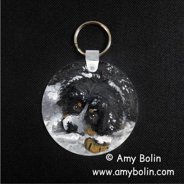 KEY CHAIN · MY FIRST WINTER · BERNESE MOUNTAIN DOG · AMY BOLIN