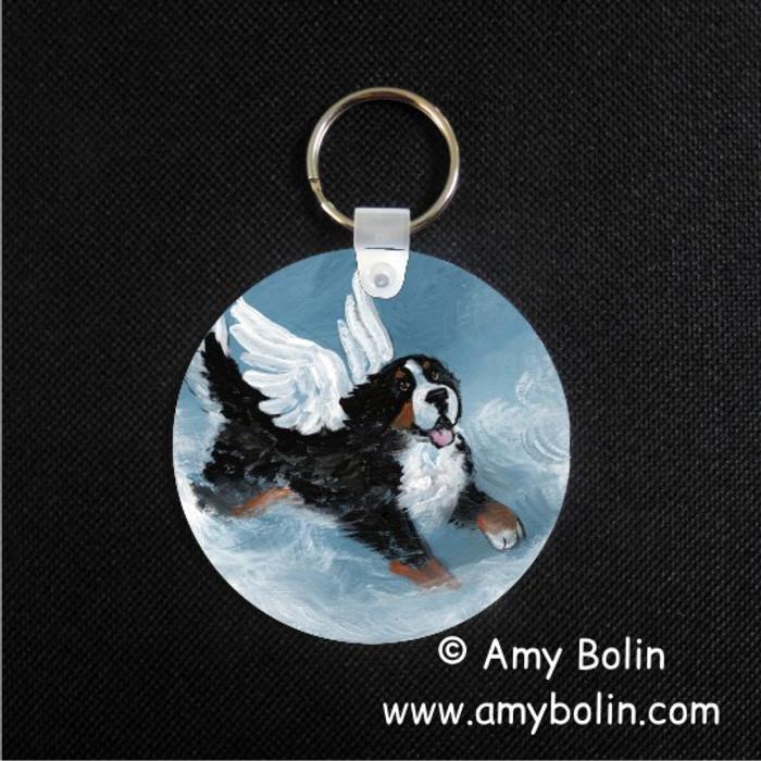 KEY CHAIN · PLAYFUL ANGEL · BERNESE MOUNTAIN DOG · AMY BOLIN