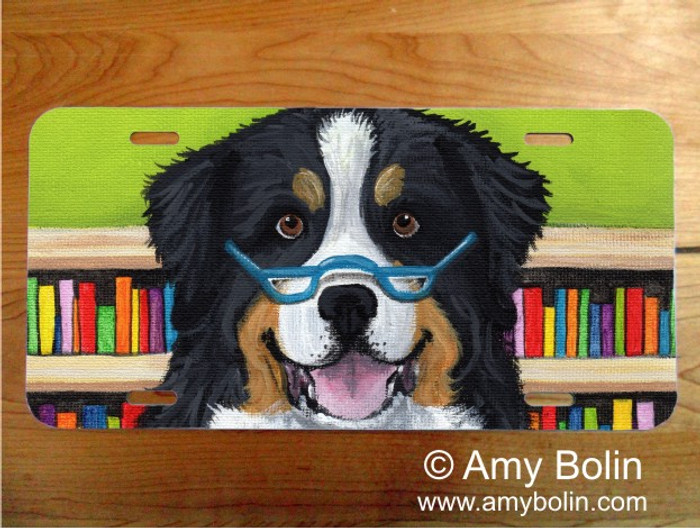 LICENSE PLATE · DOG TAILS VOL 4 · BERNESE MOUNTAIN DOG · AMY BOLIN