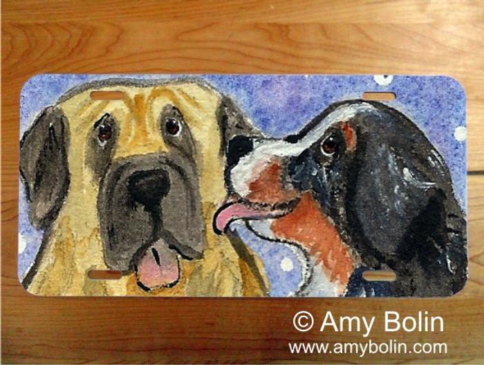 LICENSE PLATE · LITTLE KISS · BERNESE MOUNTAIN DOG, MASTIFF · AMY BOLIN