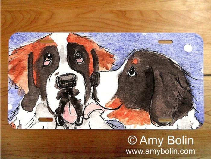 LICENSE PLATE · LITTLE KISS · BERNESE MOUNTAIN DOG, SAINT BERNARD · AMY BOLIN