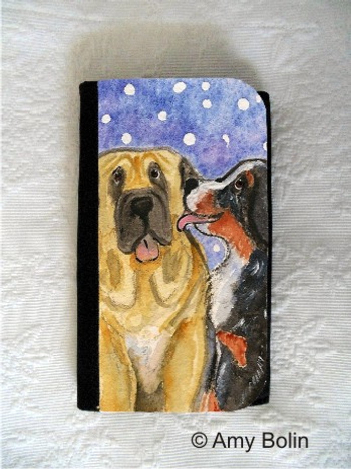 LARGE ORGANIZER WALLET · LITTLE KISS · BERNESE MOUNTAIN DOG, MASTIFF · AMY BOLIN