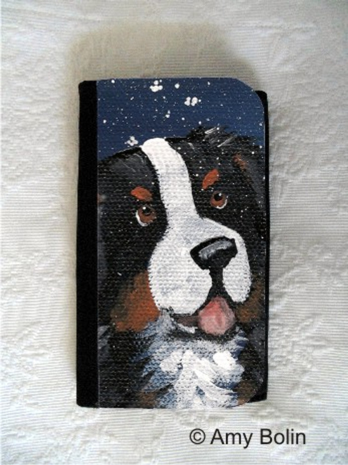 LARGE ORGANIZER WALLET · COUNTING SNOWFLAKES · BERNESE MOUNTAIN DOG · AMY BOLIN
