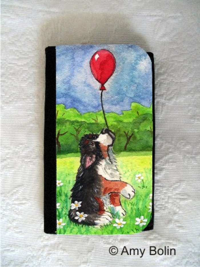 LARGE ORGANIZER WALLET · FLY AWAY · BERNESE MOUNTAIN DOG · AMY BOLIN