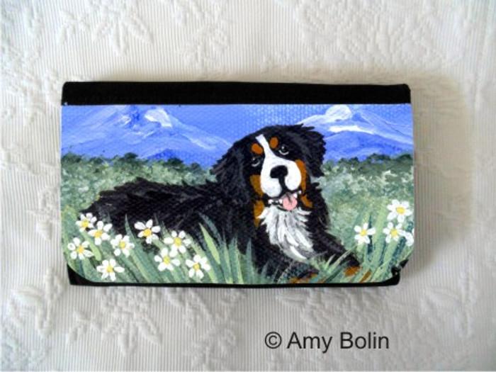 LARGE ORGANIZER WALLET · MOUNTAIN HOME · BERNESE MOUNTAIN DOG · AMY BOLIN