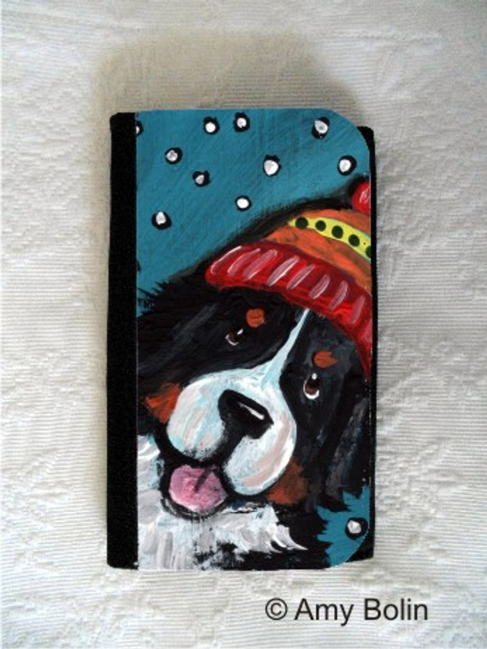 LARGE ORGANIZER WALLET · SNOWY WEATHER · BERNESE MOUNTAIN DOG · AMY BOLIN