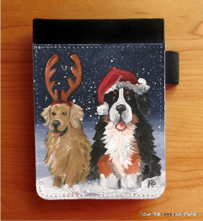 NOTEBOOKS (SEVERAL SIZES AVAILABLE) · CHRISTMAS BUDDIES · BERNESE MOUNTAIN DOG, GOLDEN RETRIEVER · AMY BOLIN