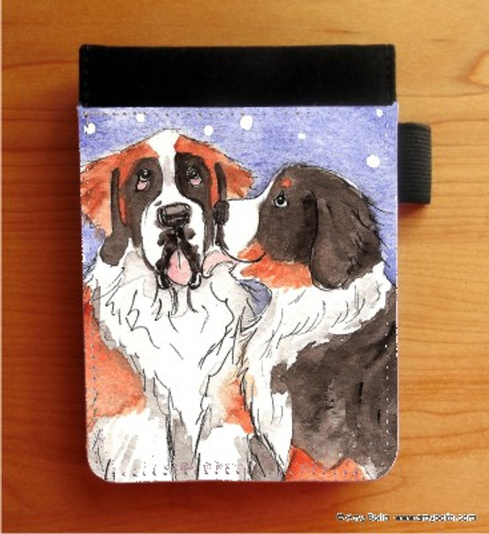 NOTEBOOKS (SEVERAL SIZES AVAILABLE) · LITTLE KISS · BERNESE MOUNTAIN DOG, SAINT BERNARD · AMY BOLIN