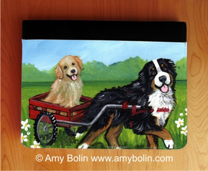 NOTEBOOKS (SEVERAL SIZES AVAILABLE) · TRAVELING BUDDIES · BERNESE MOUNTAIN DOG, GOLDEN RETRIEVER · AMY BOLIN