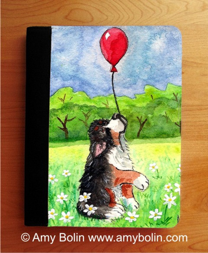 NOTEBOOKS (SEVERAL SIZES AVAILABLE) · FLY AWAY · BERNESE MOUNTAIN DOG · AMY BOLIN