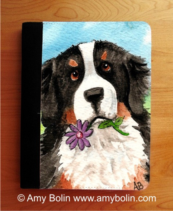 NOTEBOOKS (SEVERAL SIZES AVAILABLE) · I SAW THIS FLOWER · BERNESE MOUNTAIN DOG · AMY BOLIN
