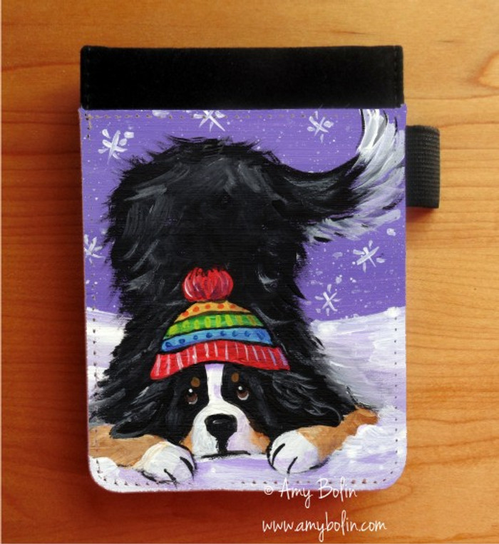 NOTEBOOKS (SEVERAL SIZES AVAILABLE) · PLAYFUL PUP · BERNESE MOUNTAIN DOG · AMY BOLIN