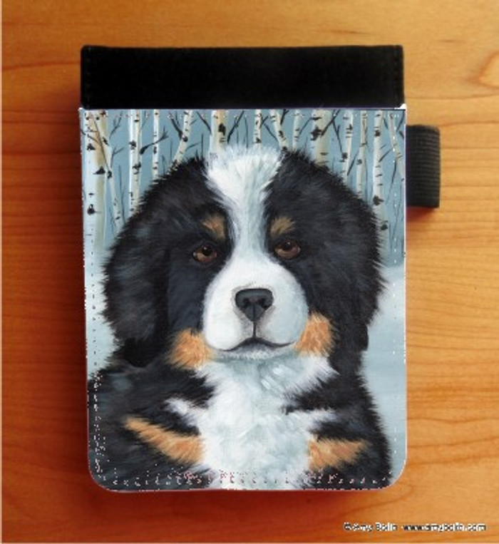 NOTEBOOKS (SEVERAL SIZES AVAILABLE) · PUPPY EYES · BERNESE MOUNTAIN DOG · AMY BOLIN