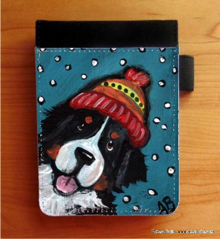 NOTEBOOKS (SEVERAL SIZES AVAILABLE) · SNOWY WEATHER · BERNESE MOUNTAIN DOG · AMY BOLIN