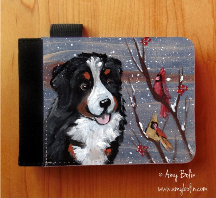 NOTEBOOKS (SEVERAL SIZES AVAILABLE) · WINTER BUDDIES · BERNESE MOUNTAIN DOG · AMY BOLIN