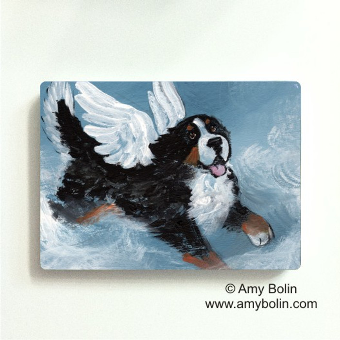 MAGNET · PLAYFUL ANGEL · BERNESE MOUNTAIN DOG · AMY BOLIN