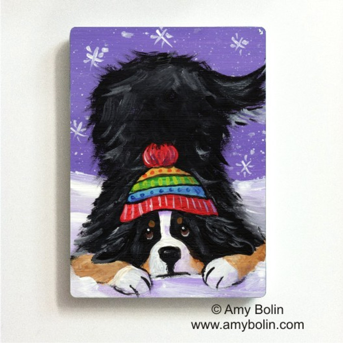 MAGNET · PLAYFUL PUP · BERNESE MOUNTAIN DOG · AMY BOLIN