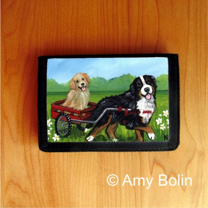 TRIFOLD WALLET · TRAVELING BUDDIES · BERNESE MOUNTAIN DOG, GOLDEN RETRIEVER · AMY BOLIN