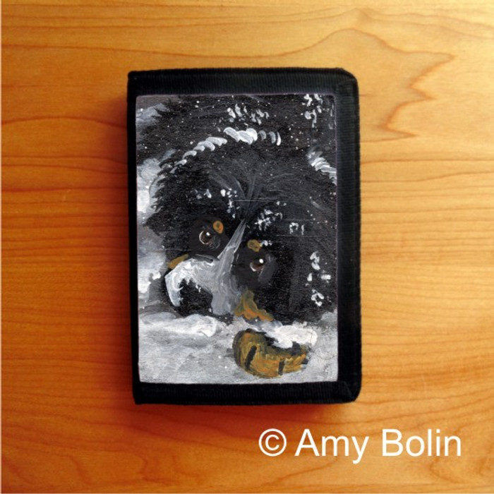 TRIFOLD WALLET · MY FIRST WINTER · BERNESE MOUNTAIN DOG · AMY BOLIN
