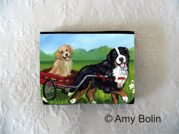 SMALL ORGANIZER WALLET · TRAVELING BUDDIES · BERNESE MOUNTAIN DOG, GOLDEN RETRIEVER · AMY BOLIN
