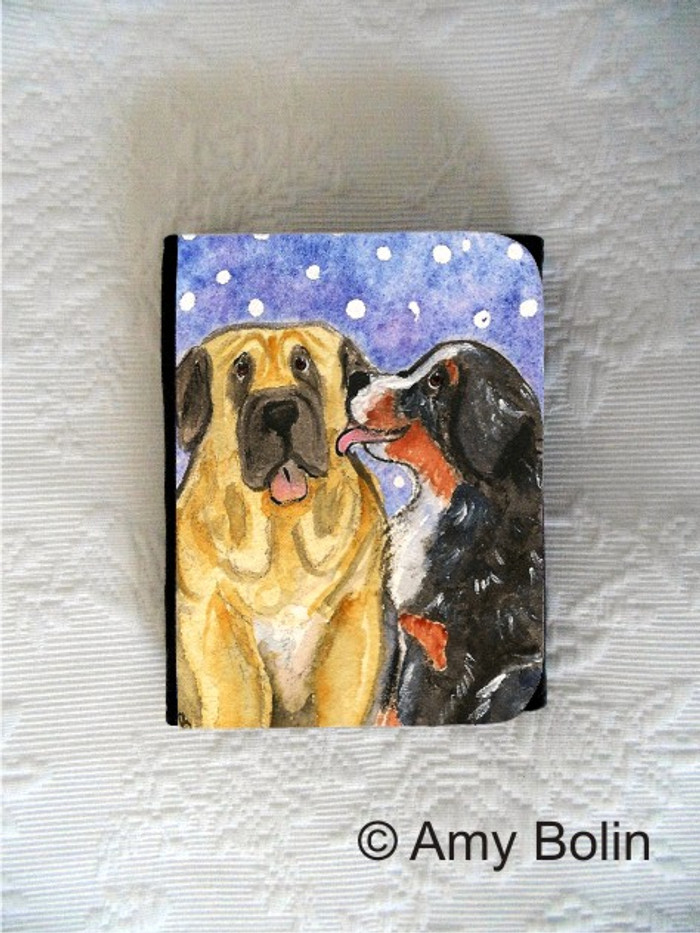 SMALL ORGANIZER WALLET · LITTLE KISS · BERNESE MOUNTAIN DOG, MASTIFF · AMY BOLIN