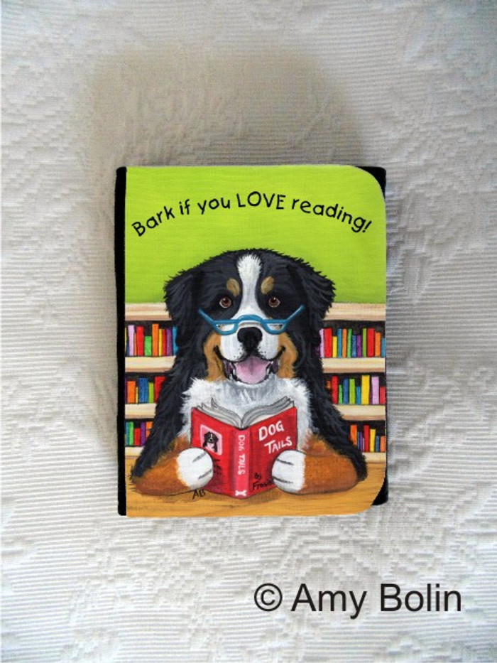 SMALL ORGANIZER WALLET · DOG TAILS VOL 4 · BERNESE MOUNTAIN DOG · AMY BOLIN