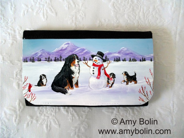 LARGE ORGANIZER WALLET · OUR SNOWY FRIEND · BERNESE MOUNTAIN DOG · AMY BOLIN