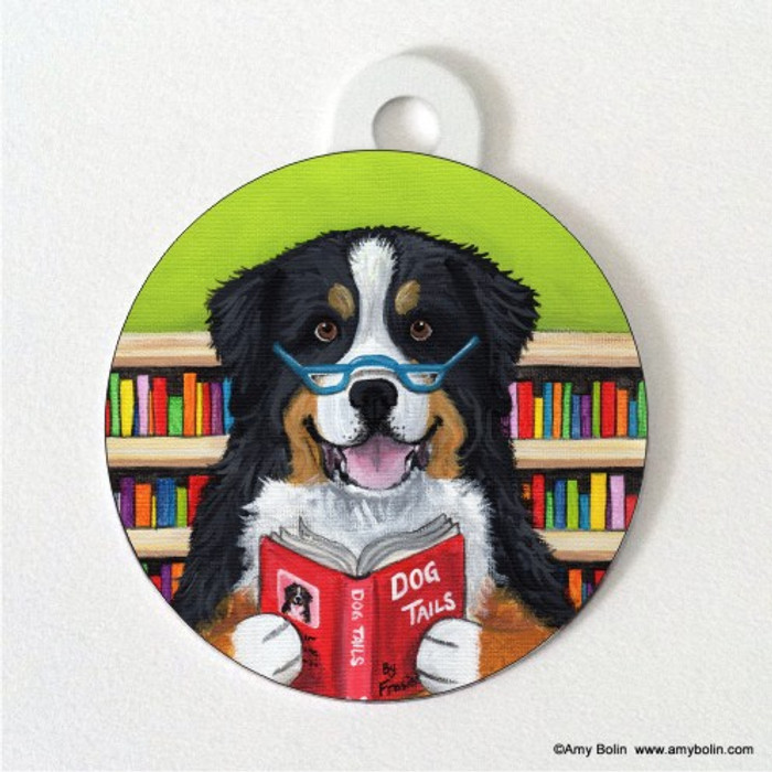 DOUBLE SIDED PET ID TAG · DOG TAILS VOL 4 · BERNESE MOUNTAIN DOG · AMY BOLIN