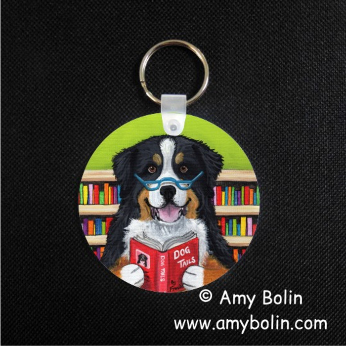 KEY CHAIN · DOG TAILS VOL 4 · BERNESE MOUNTAIN DOG  · AMY BOLIN