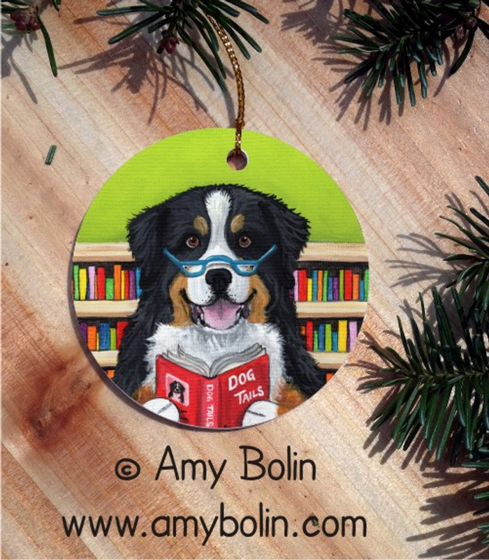CERAMIC ORNAMENT · DOG TAILS VOL 4 · BERNESE MOUNTAIN DOG · AMY BOLIN