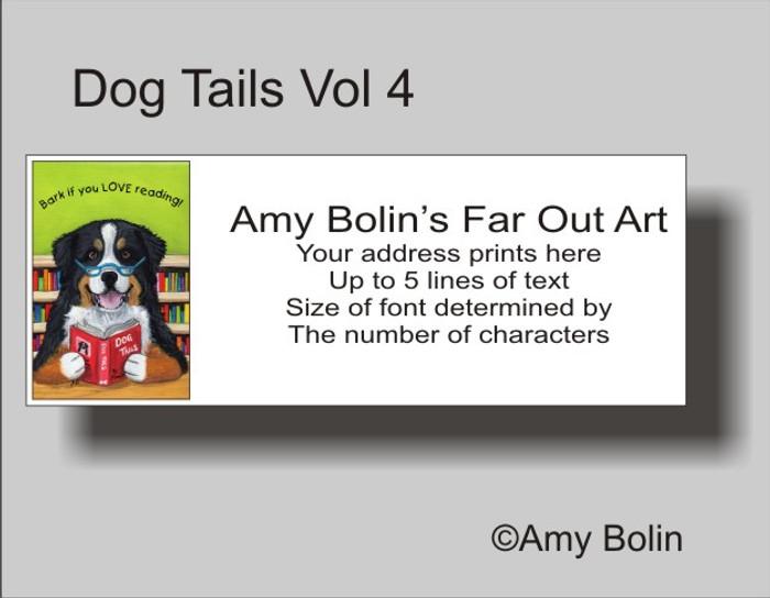 """Dog Tails Vol 4"" Bernese Mountain Dog Address Labels"
