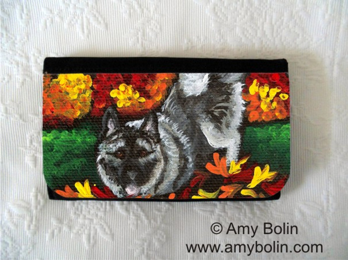 LARGE ORGANIZER WALLET · AUTUMN'S SIMPLE PLEASURES · NORWEGIAN ELKHOUND · AMY BOLIN