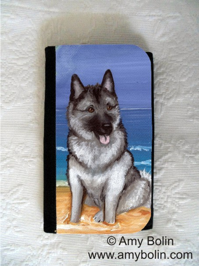 LARGE ORGANIZER WALLET · BEACH BUM · NORWEGIAN ELKHOUND · AMY BOLIN