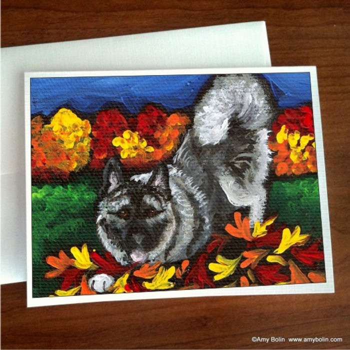 NOTE CARDS · AUTUMN'S SIMPLE PLEASURES · NORWEGIAN ELKHOUND · AMY BOLIN