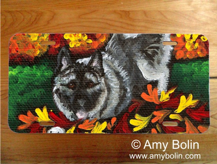 LICENSE PLATE · AUTUMN'S SIMPLE PLEASURES · NORWEGIAN ELKHOUND · AMY BOLIN