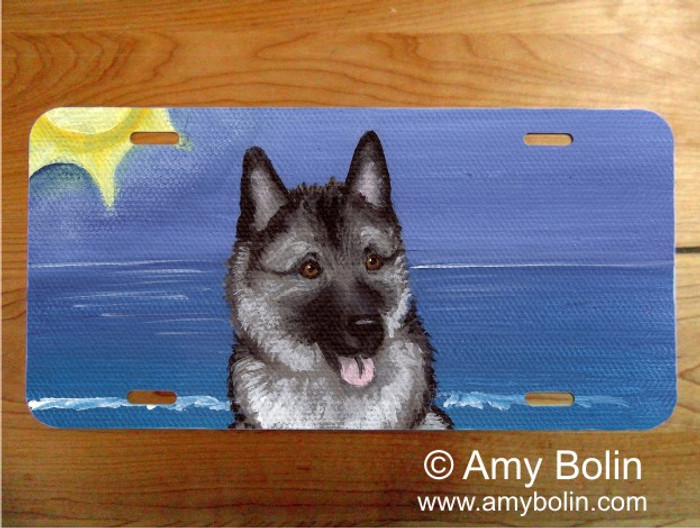 LICENSE PLATE · BEACH BUM · NORWEGIAN ELKHOUND · AMY BOLIN