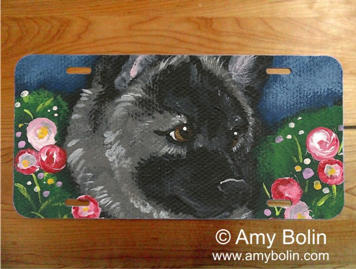 LICENSE PLATE · MOM'S FAVORITE FLOWER · NORWEGIAN ELKHOUND · AMY BOLIN
