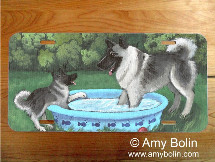 LICENSE PLATE · SUMMER'S SIMPLE PLEASURES · NORWEGIAN ELKHOUND · AMY BOLIN