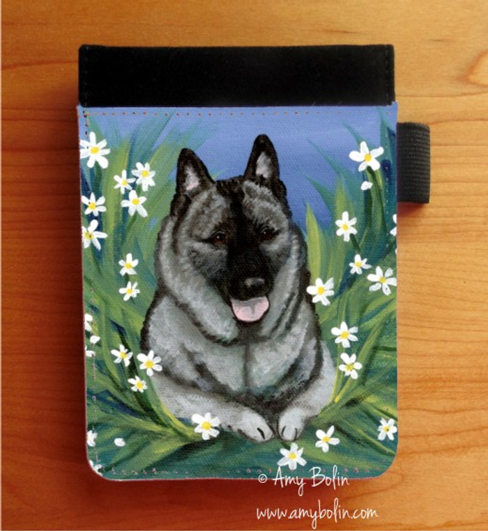 NOTEBOOKS (SEVERAL SIZES AVAILABLE) · DAISIES 1 · NORWEGIAN ELKHOUND · AMY BOLIN