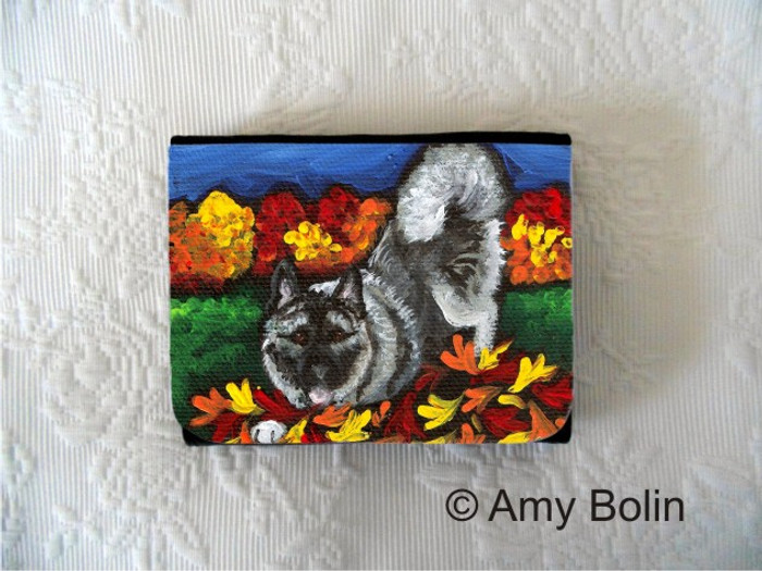 SMALL ORGANIZER WALLET · AUTUMN'S SIMPLE PLEASURES · NORWEGIAN ELKHOUNDS · AMY BOLIN