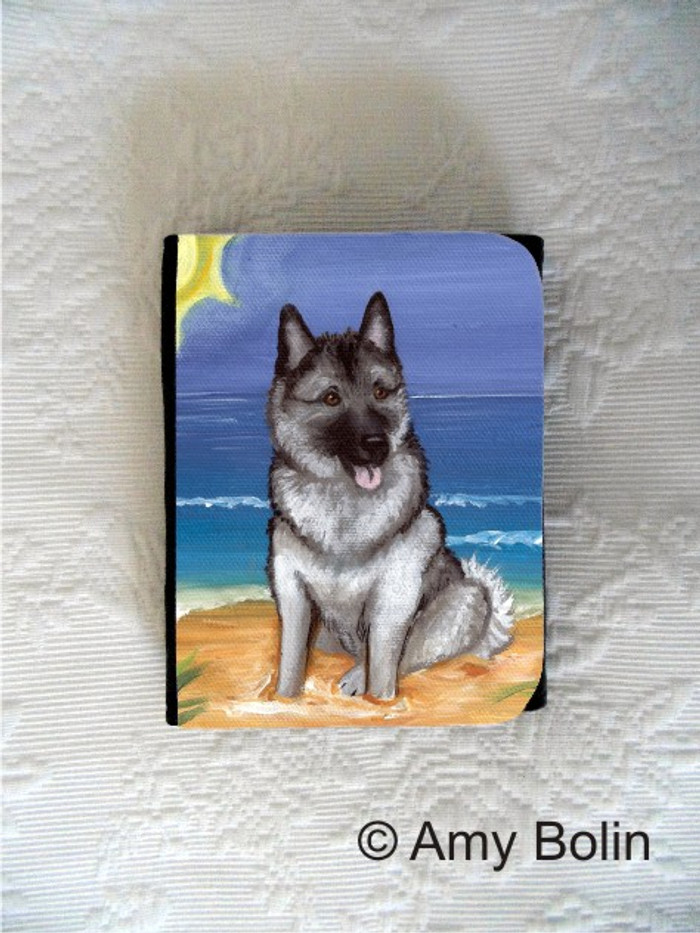 SMALL ORGANIZER WALLET · BEACH BUM · NORWEGIAN ELKHOUNDS · AMY BOLIN