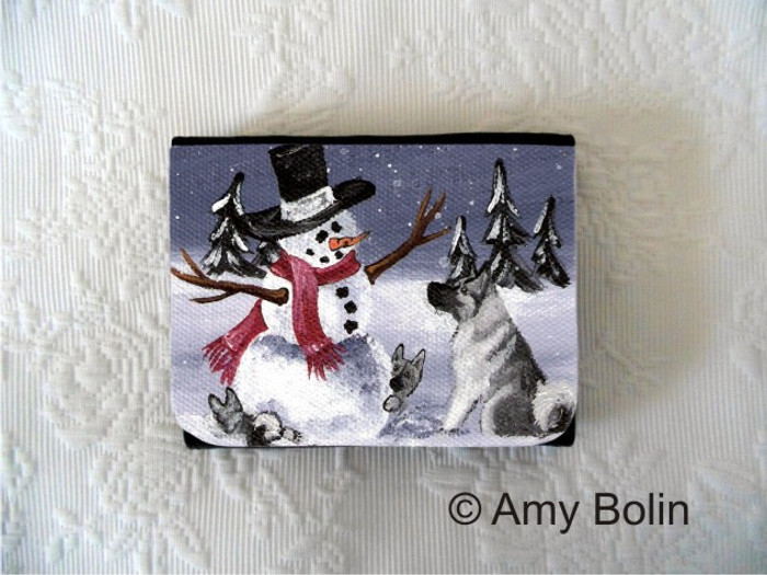 SMALL ORGANIZER WALLET · HIDE AND SEEK · NORWEGIAN ELKHOUNDS · AMY BOLIN