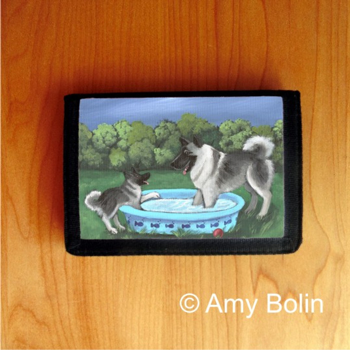 TRIFOLD WALLET · SUMMER'S SIMPLE PLEASURES · NORWEGIAN ELKHOUND  · AMY BOLIN
