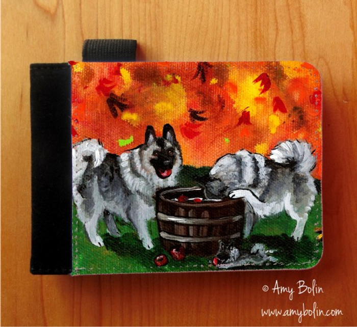 NOTEBOOKS (SEVERAL SIZES AVAILABLE) · BOBBING FOR APPLES · NORWEGIAN ELKHOUND · AMY BOLIN